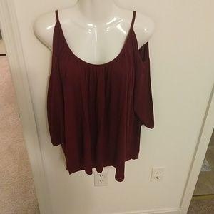 Lane Bryant size 18/20 deep red blouse